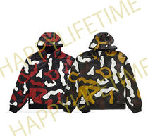 SUPREME19FW★CAMO LEATHER HOODED JACKET