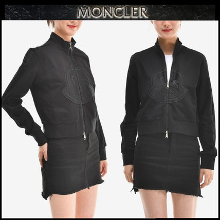 MONCLER アウターその他 【MONCLER】19SS ビッグロゴ ジップアップジャケット BLACK/EMS