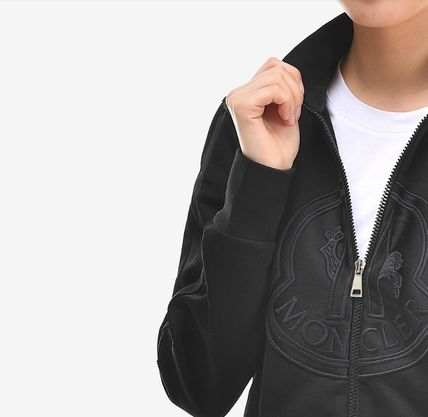 MONCLER アウターその他 【MONCLER】19SS ビッグロゴ ジップアップジャケット BLACK/EMS(12)