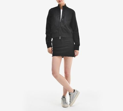 MONCLER アウターその他 【MONCLER】19SS ビッグロゴ ジップアップジャケット BLACK/EMS(19)