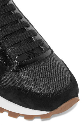 BRUNELLO CUCINELLI スニーカー 関税込◆Bead-embellished suede, leather, mesh and neoprene(6)