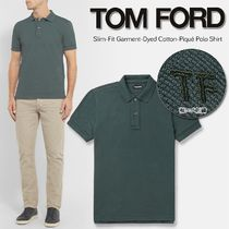 19-20AW新作 TOM FORD/ポロシャツ/スリムフィット/緑