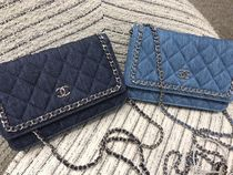 Chanel☆チェーン付きデニムWallet Chain☆2 Colors