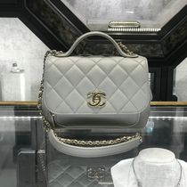 2019 CHANEL★再入荷 BUSINESS AFFINITY mini FLAPBAG in Grey