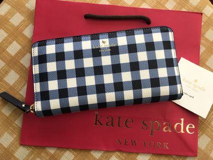 kate spade new york 長財布 Kate Spade★Hyde Lane Gingham Michele★かわいいチェック柄