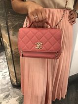 2019 CHANEL★再入荷 BUSINESS AFFINITY mini FLAPBAG in Pink