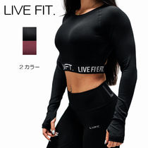Live Fit(リブフィット) フィットネストップス リブフィット LIVE FIT Retro Boom Long Sleeve 長袖 Tシャツ