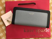 Kate Spade★Margaux Slim Continental Wallet★ブルー長財布