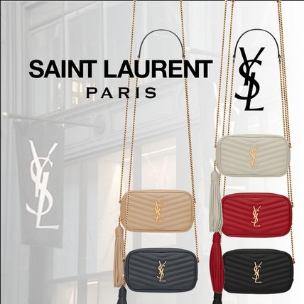 Saint Laurent 大人気☆Camera Bag LOU MINI エンボスレザー