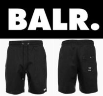 新作 芸能人愛用 BALR  REPEAT ZIP SWEAT  SHORT BLACK