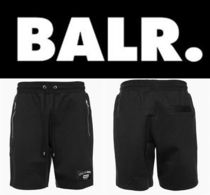 新作 芸能人愛用 BALR  LIFEOFABALR. CLUB SWEAT  SHORT BLACK