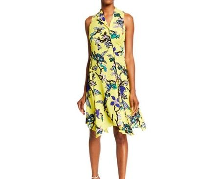 DIANE von FURSTENBERG ワンピース DVF Carmen Floral Handkerchief Dress