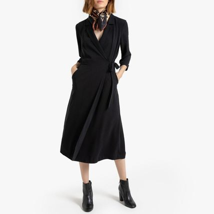 LA Redoute ワンピース La Redoute Neck dress portfolio tailor, 3/4 sleeves