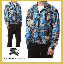 Burberry★graffiti jacketlet beige+blue letter【EMS謝恩品】