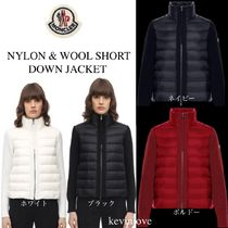 新作!19/20モンクレール NYLON & WOOL SHORT DOWN JACKET