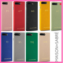 AU発!★MASON de SABRE★iPhone 7/8 Plus 9色★イニシャル刻印