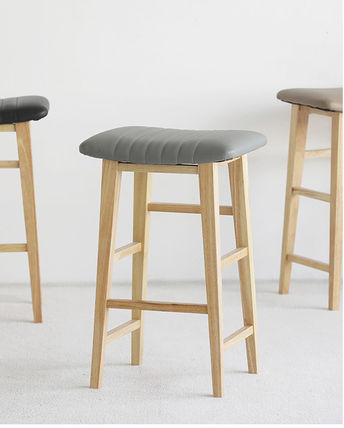 roomnhome 椅子・チェア SILIT WOOD BAR STOOL PU素材クッション 木製バースツール