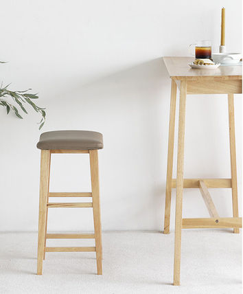 roomnhome 椅子・チェア SILIT WOOD BAR STOOL PU素材クッション 木製バースツール(2)