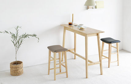 roomnhome 椅子・チェア SILIT WOOD BAR STOOL PU素材クッション 木製バースツール(5)