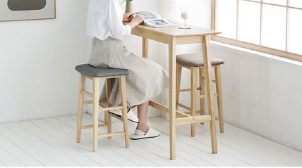 roomnhome 椅子・チェア SILIT WOOD BAR STOOL PU素材クッション 木製バースツール(7)