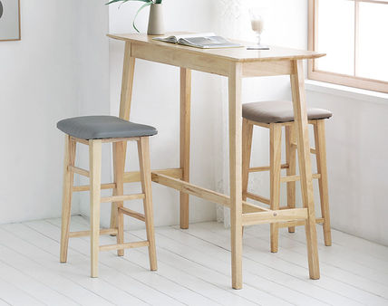 roomnhome 椅子・チェア SILIT WOOD BAR STOOL PU素材クッション 木製バースツール(8)