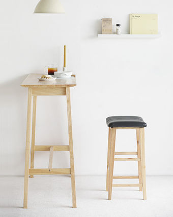 roomnhome 椅子・チェア SILIT WOOD BAR STOOL PU素材クッション 木製バースツール(11)