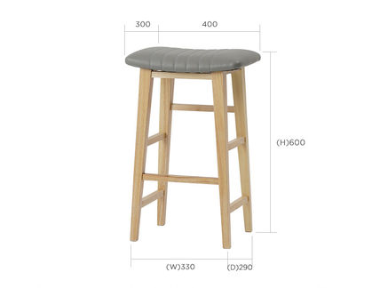 roomnhome 椅子・チェア SILIT WOOD BAR STOOL PU素材クッション 木製バースツール(15)