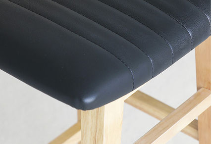 roomnhome 椅子・チェア SILIT WOOD BAR STOOL PU素材クッション 木製バースツール(16)