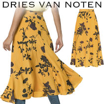 【Dries Van Noten】Simini 花柄 フレアー スカート Orange