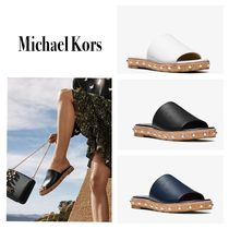 マイケルコース【Micheal Kors】Ellen Leather Slide Sandal