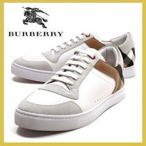 Burberry★leather&house check sneakers white【謝恩品EMS】