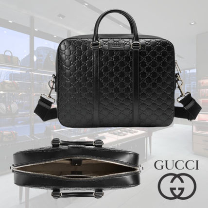 premium selection 4cced 10d29 ◇直営店BUY◇ GUCCI(グッチ) シグネチャー ブリーフケース