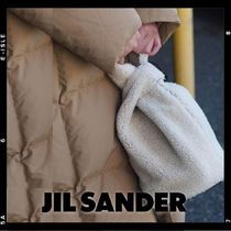 国内発送【Jil Sander】SMALL MARKET BUCKET - Shearling Bag