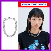 [OPEN THE DOOR]  silver chain keyring - unisex /追跡付