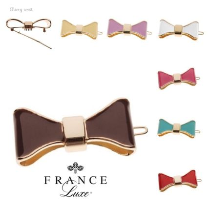France Luxe エナメル リボン ボウ ピン