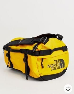 The North Face Base Camp small duffel in yellow