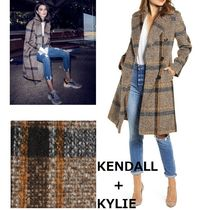 Kendall + Kylie(ケンダルアンドカイリー) コート KENDALL+KYLIE★Plaid Double Breasted Coatウール・コート♪