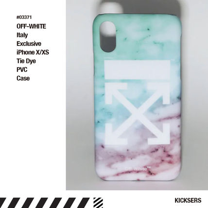 Off-White スマホケース・テックアクセサリー 限定人気話題!OFF-WHITE Italy Exclusive iPhone X/XS PVC Case