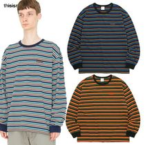 ★thisisneverthat★RUBBER SP STRIPED L/SL TOP  3色