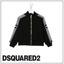 D SQUARED2(ディースクエアード) キッズ用トップス DSQUARED2 KIDS☆JERSEY FULL-ZIP SWEATSHIRT WITH LOGOED BANDS