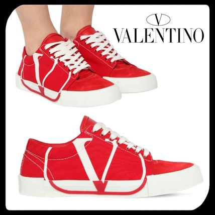 VALENTINO スニーカー ●関税・送料込●VALENTINO GARAVANI TRICKS LOW-TOP SNEAKER 赤