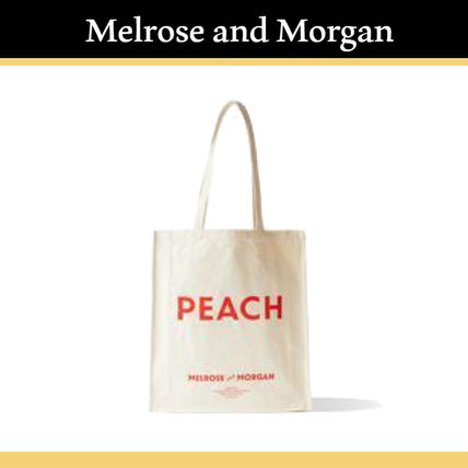 《Melrose and Morgan》PEACHキャンバスバッグ