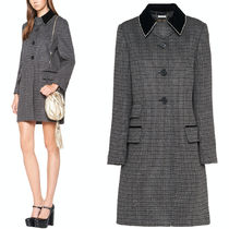 MM1082 CHECKED WOOL COAT