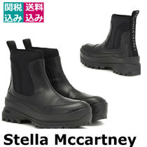 関税込☆STELLA MCCARTNEY☆Utility faux leather ankle boots黒