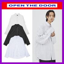 [OPEN THE DOOR]  daddy-fit stripe shirts (3 color) /追跡付