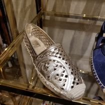 2019 NEW♪ Tory Burch ★ THATCHED PERF LOGO ESPADRILLE