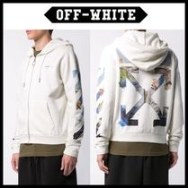 ★関税込★Off-White★Diag Coloured Arrow off white hoodie★