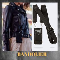 BANDOLIER★Candice Wide iPhone 黒革ストラップ