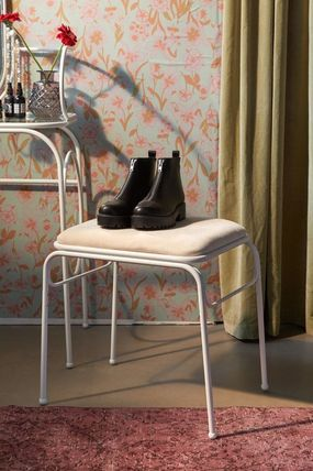 Fine Urban Outfittersaria Metal Vanity Stool Gmtry Best Dining Table And Chair Ideas Images Gmtryco