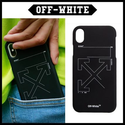 Off-White スマホケース・テックアクセサリー ★イベント/関税込★Off-White★ARROW IPHONE XS PHONE CASE★
